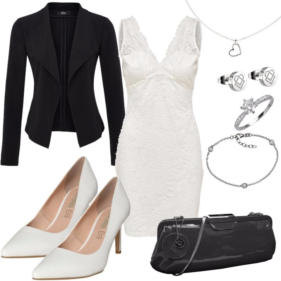 perfect black and white outfit damen girl